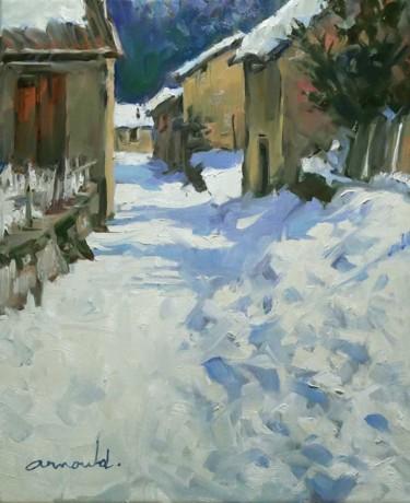Nostalgie de neige (huile sur toile 46 x 38)