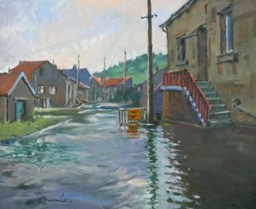 Innondation (huile sur toile 61 x 50)