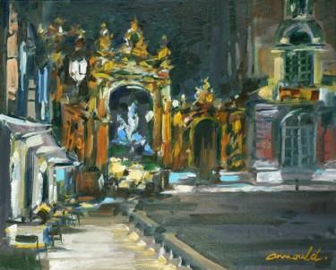 Place Stan la nuit (Huile sur toile 46 x 38)