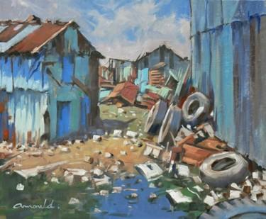 Bidonville (huile sur toile 61 x 50)