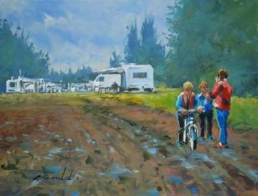 Petit camps de Roms (achevé) Huile sur toile 61 x 46