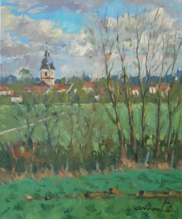 Le Prieuré de Flavigny (huile sur toile 46 x 38)