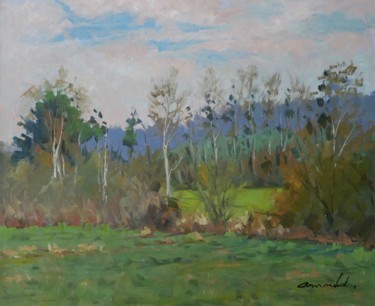 Les promenades de Flavigny (huile sur toile 61 x 50)