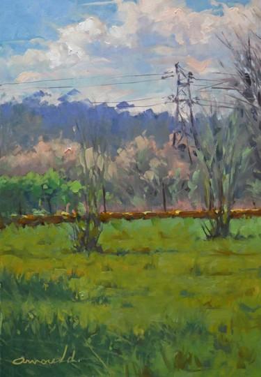 Dans mon terrain derrière chez moi (huile sur toile 55 x 38)