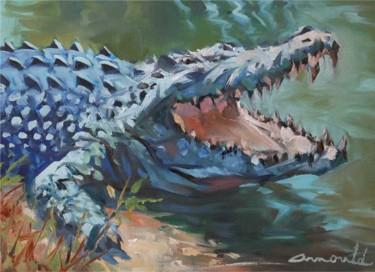 Croc (huile sur papier 36 x 26) #artistsupportpledge