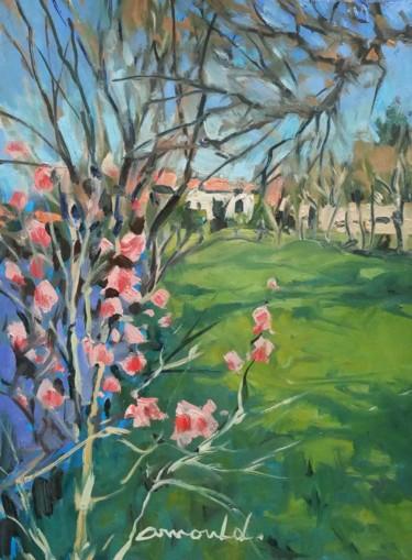 Chez Françoise et Michel (huile sur papier 31 x 23)