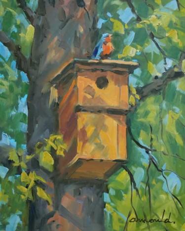 Le nichoir de Serge (huile sur carton 41 x 33)