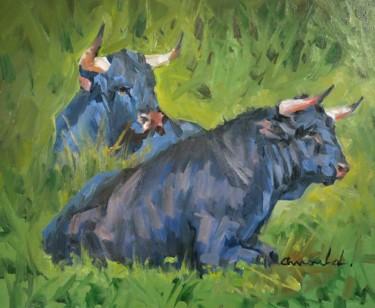 Toro (huile sur carton 46 x 38)