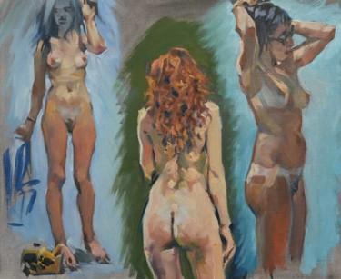 Trois nus (huile sur carton 46 x 38)
