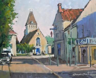 Villepreux (huile sur bois ( 46 x 38)