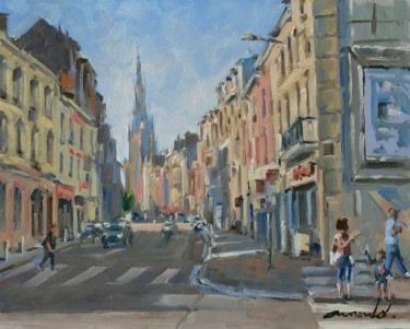 Quartier Parisien (huile sur bois 41 x 33)