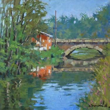 Petit pont à Richardménil (huile sur toile 50 x 50)