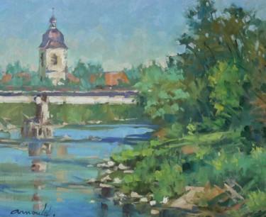 La Moselle à Flavigny (huile sur toile 46 x 38)