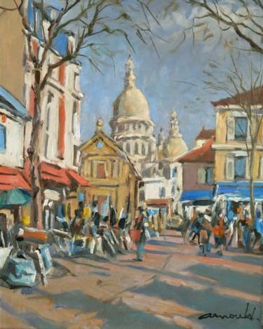 Montmartre d'après photo (huile sur toile 41 x 33)