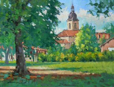 Dans le parc de Flavigny (huile sur toile 61 x 46)
