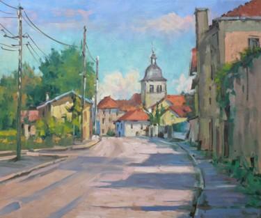 Le Prieuré à Flavigny (huile sur toile 55 x 46)