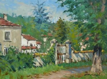 Ce matin à Flavigny (Huile sur toile 61 x 46)