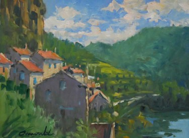 Vallée (huile sur papier 33 x 24)