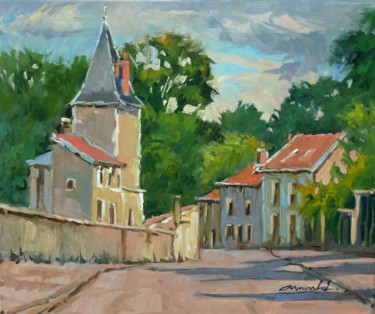 Château à Ludres (huile sur toile 55 x 46)