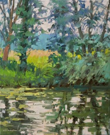Au bord de la Moselle à Flavigny (Huile sur toile 46 x 38)