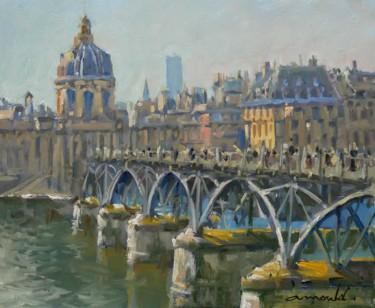 Le pont des Arts Huile sur papier46 x 38
