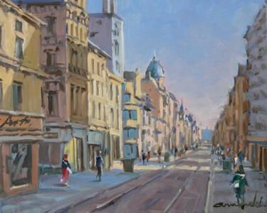 Rue Saint Jean à Nancy (huile sur toile 41 x 33)