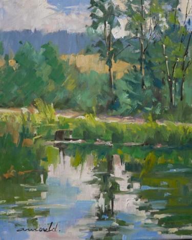 Au bord du canal à l'écluse de Flavigny