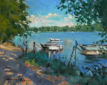 Au bord du lac (huile sur toile 41 x 33)