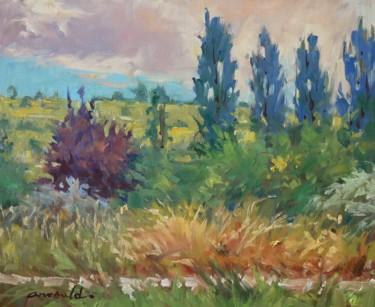 Flavigny vers la plage (huile sur toile 46 x 38)