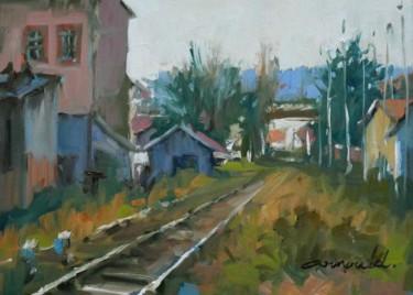 Friches quartier Oberlin à Nancy (huile sur papier 33 x 24)
