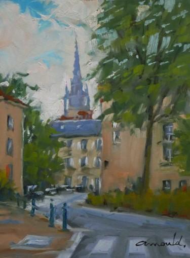Place de l'Arsenal à Nancy (huile sur papier 33 x 24)