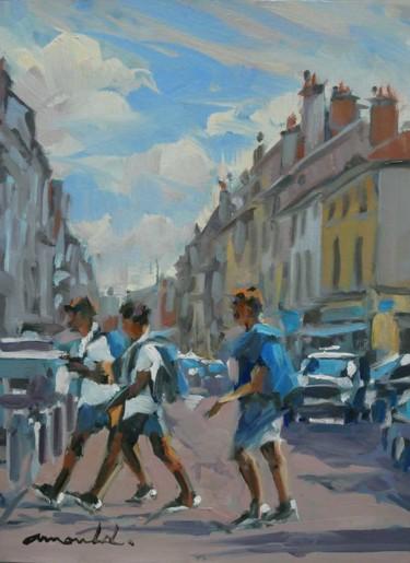 Rue Saint Dizier à Nancy (huile sur papier 33 x 24)