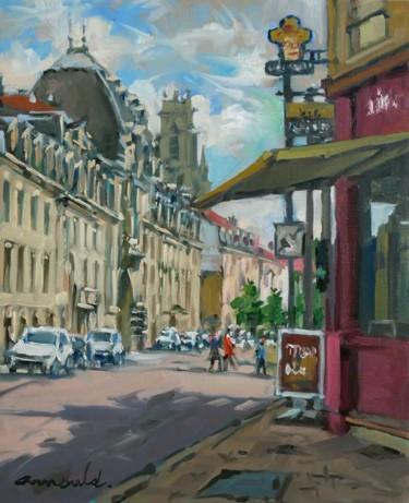Avenue de Strasbourg à Nancy (huile sur toile 46 x 38)