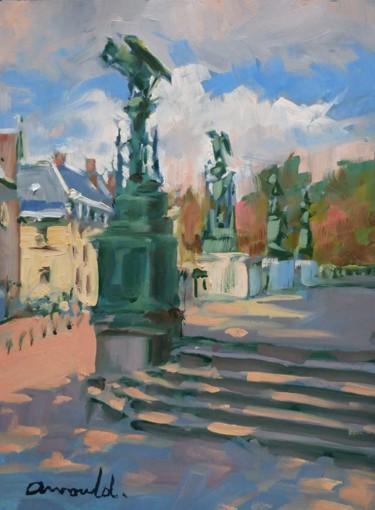 Le parvis Saint Epvre à Nancy (huile sur papier 22 x 30)