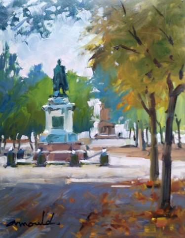 Place Carnot à Nancy 2 (huile sur papier 32 x 25)