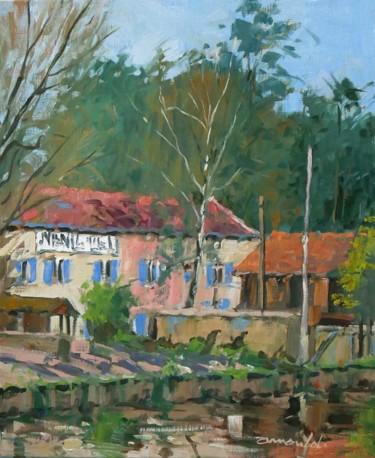 Centre équestre à Menil Saint Michel (huile 46 x 38)