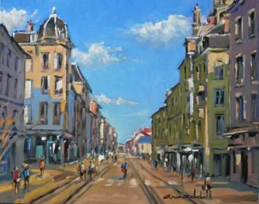 Rue Saint Georges à Nancy (huile sur toile 35 x 27)