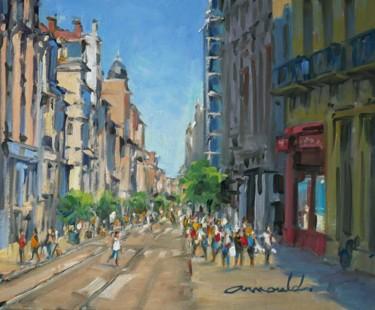 Rue Saint Jean à Nancy (huile sur toile 46 x 38)