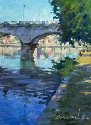 Le pont de Mylaine (Huile sur papier 33 x 24)