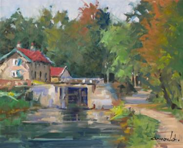 Ecluse à Laneuveville (huile sur toile 41 x 33)