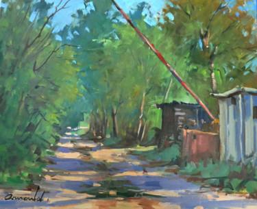 Un chemin à Tonnoy (huile sur toile 46 x 38)
