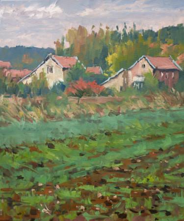 Entre Laneuveville et Bosserville (huiles sur toile 55 x 46)