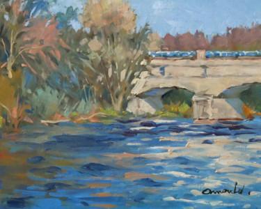 Le pont canal à Flavigny (huile sur toile 41 x 33)