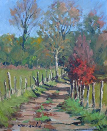 Chemin de campagne à Flavigny (huile sur toile 46 x 38)