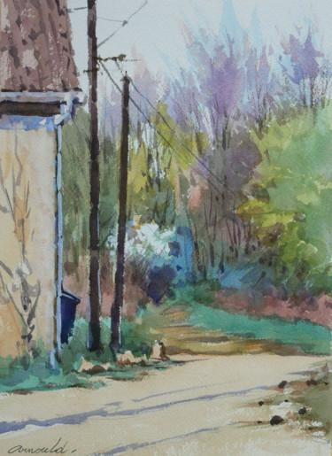 Le chemin contre ma maison au Printemps (Aquarelle)
