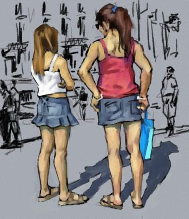 Deux copines Test 5 Paint Tool SAI.