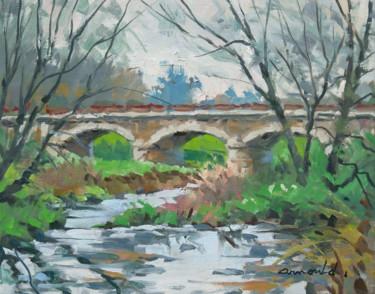 Le pont de Ceintrey (huile sur toile 41 x 33)