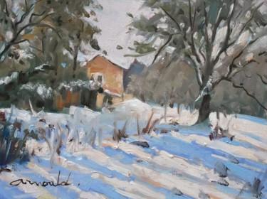 Pochade de neige (huile sur papier 30 x 22)