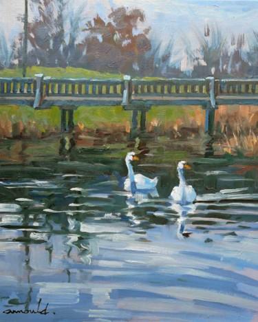 Parc Georges Brassens à Tomblaine (huile sur toile 46 x 38)