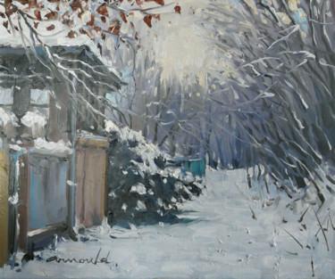 Souvenir de neige dans mon chemin (huile sur toile 46 x 38)